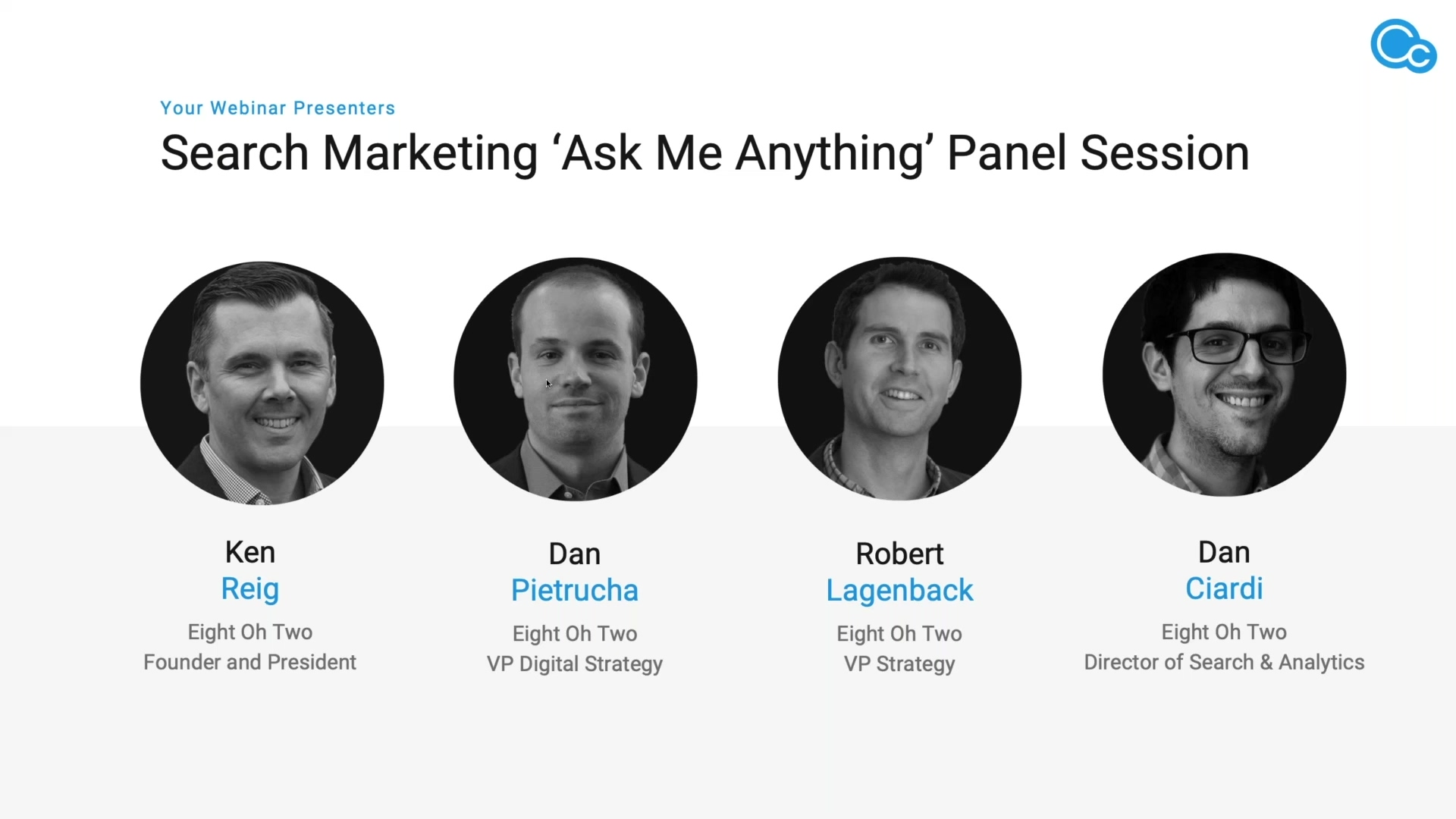 CIMcloud Search Marketing 'Ask Me Anything' Panel Image